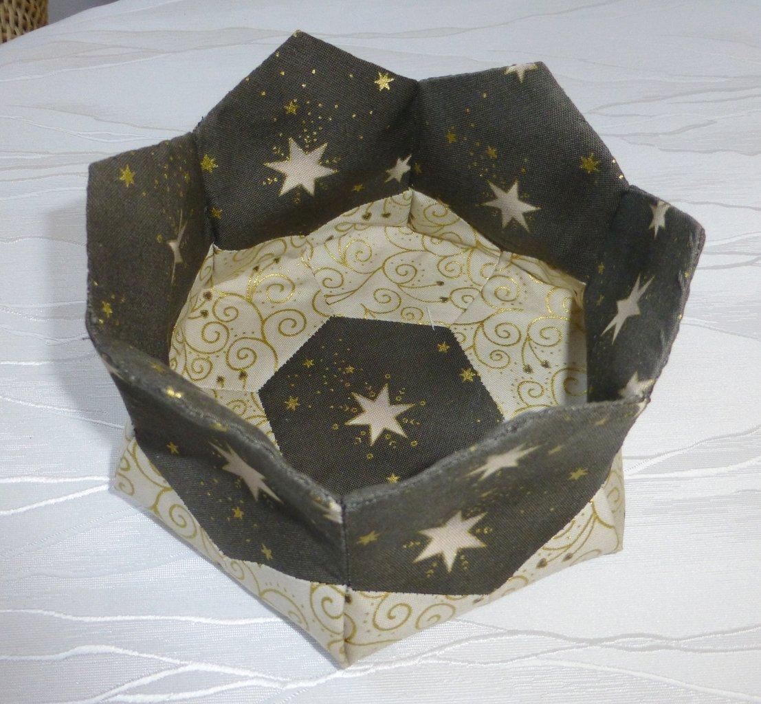 materialpack hexagonk rbchen weihnachten taupe handn hprojekt hexagon patchwork treff. Black Bedroom Furniture Sets. Home Design Ideas