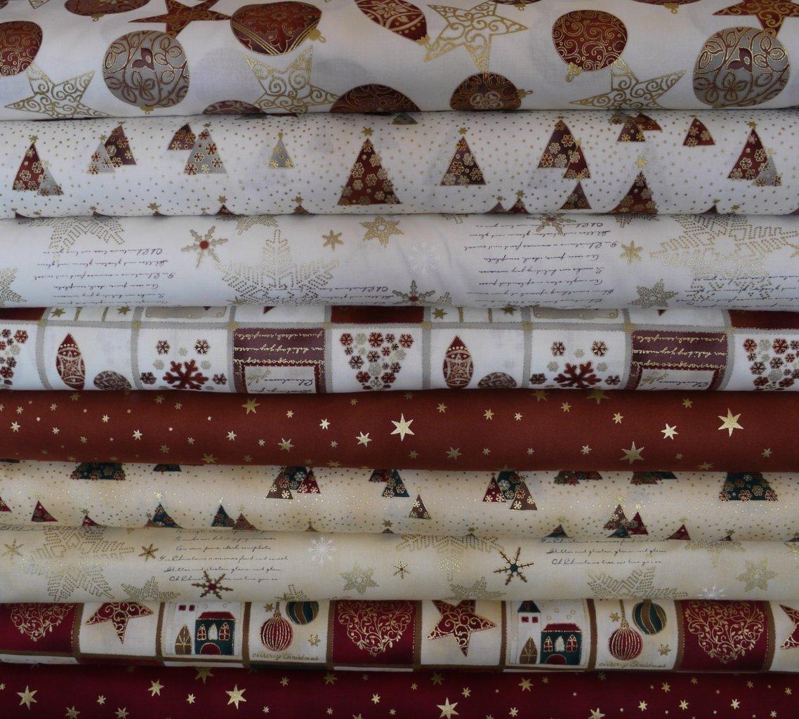 Serie Brilliant Christmas Von Stof As Hexagon Patchwork Treff