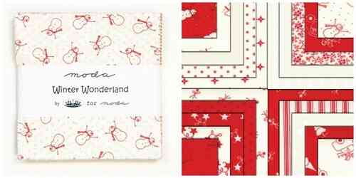 "Serie ""Winter Wonderland"", Panel und Charm Pack von Moda"