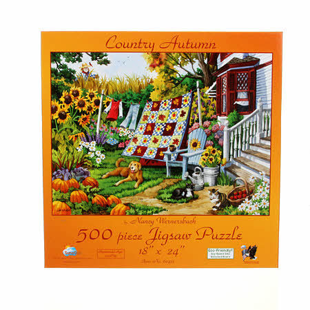 "Puzzle "" Country Autumn"" Herbst, 500 Teile"