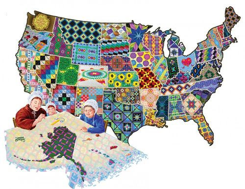 "Puzzle ""American Quilts"", Amerika 600 Teile"