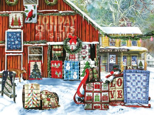 "Puzzle ""Holiday Quilts"", Winterlandschaft, 1000 Teile"