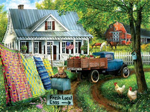 "Puzzle  ""Country Side Living"", Landleben 1000 Teile"