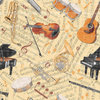 "Serie ""Let the Music Play"", Musikinstrumente und Noten von Blank Quilting"