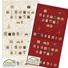 Magic Christmas, Adventskalender Herz rot und  hell, von Stoffabrics